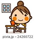 小学生 女子 女の子のイラスト 24260722