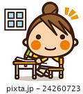 小学生 女子 女の子のイラスト 24260723