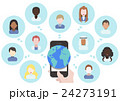 コミュニケーション スマホ スマートフォンのイラスト 24273191