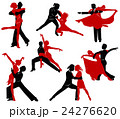 Silhouettes of the pairs dancing ballroom dances.  24276620