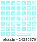 申込用アイコン-6-水色■注文・発送・支払・問合せ■  24280679