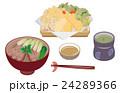 今日のご飯天ぷらと鴨南蛮蕎麦 24289366