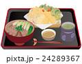 今日のご飯天ぷらと鴨南蛮蕎麦 24289367