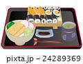 今日のご飯巻き寿司ときつねうどん 24289369