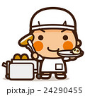 小学生 男子 給食当番のイラスト 24290455