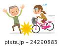 自転車 運転 女子のイラスト 24290883