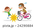 自転車 ベクター 危険運転のイラスト 24290884