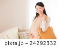 女性 妊婦 マタニティの写真 24292332