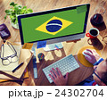 Brazil National Flag Business Communication Connection Concept 24302704