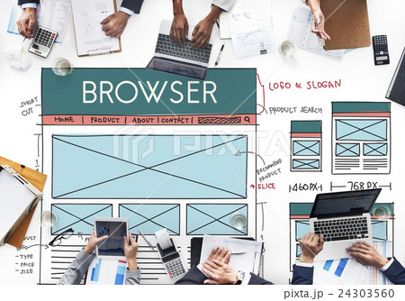 Browse Browser Connect Internet Layout Conceptの写真素材 [24303560] - PIXTA
