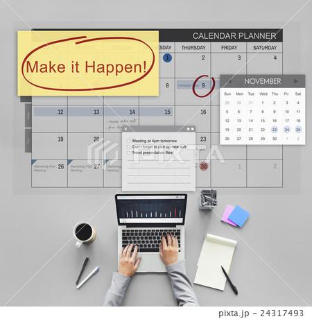 Make it Happen Change Effect Impact Proactive Conceptの写真素材 [24317493] - PIXTA