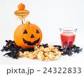 ハロウィン カボチャ お菓子 白背景 白バック おもちゃカボチャ ハロウィーンイメージ 24322833