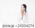 ビジネスウーマン(スマートフォン) 24334274