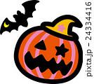 ハロウィン かぼちゃ コウモリ おばけ 24334416