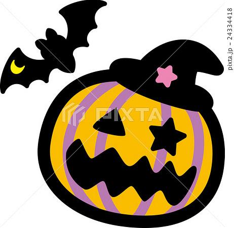 おばけかぼちゃをかぶったひよこのイラスト ゆるくてかわいい無料