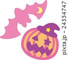 ハロウィン ピンク かぼちゃ コウモリ おばけ 24334747
