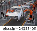 電気自動車の組立工場イメージ。3Dレンダリング画像。 24335405