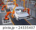 電気自動車の組立工場イメージ。3Dレンダリング画像。 24335407