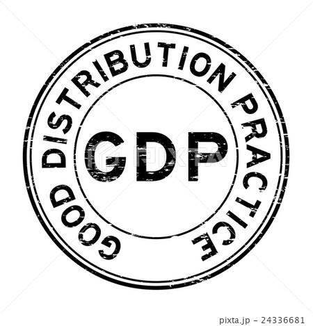 grunge black gdp rubber stampのイラスト素材 24336681 pixta