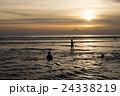 バリ島 クタビーチの夕日 24338219