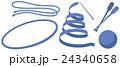 新体操の手具のイラスト(リボン・ロープ・フープ・クラブ・ボール) 24340658
