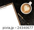 コーヒー ペン ふでのイラスト 24340677