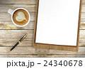 コーヒー ペン ふでのイラスト 24340678