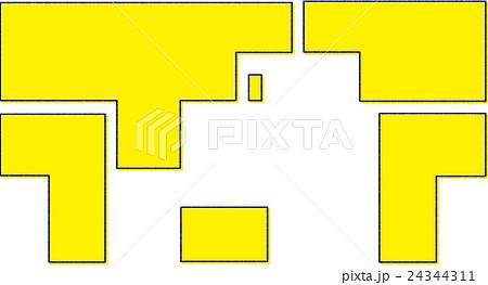 世界地図イラスト簡略図のイラスト素材 24344311 Pixta