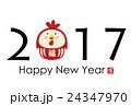 2017年酉年年賀状 24347970