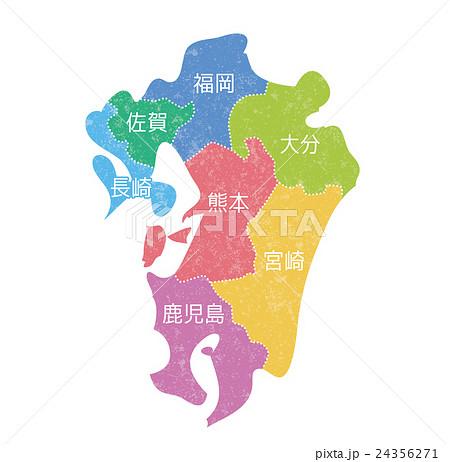 九州マップ_色分け 24356271