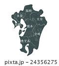 九州マップ_モスグリーン 24356275