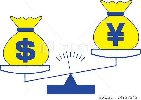 天秤イラスト金融イメージのイラスト素材 24357545 Pixta