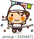 小学生 女子 運動会のイラスト 24358471