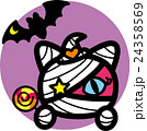 ハロウィン ピンク猫ミイラ おばけ こうもり キャンディ 紫丸 24358569