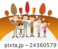秋 家族 ベクターのイラスト 24360579