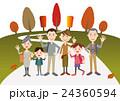秋 家族 紅葉狩りのイラスト 24360594