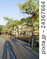 朝の温泉街 24367664