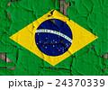 裂開牆上的巴西國旗特寫紋理背景(高分辨率 3D CG 渲染∕著色插圖) 24370339