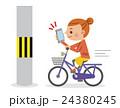 自転車 女性 ベクターのイラスト 24380245