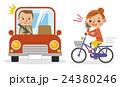 自転車 女性 ベクターのイラスト 24380246