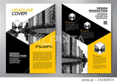 business brochure flyer design a4 template のイラスト素材 24380654