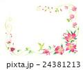 花 クリスマスローズ フレームのイラスト 24381213