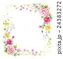薔薇 フレーム 花のイラスト 24383272