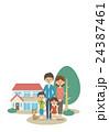 ベクター 人物 家族のイラスト 24387461