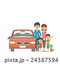 人物 家族 ファミリーのイラスト 24387594