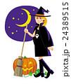 ハロウィン 女性 魔女のイラスト 24389515