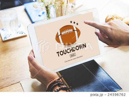 Touchdown Sport American Football Power Speed Strategy Conceptの写真素材 [24396762] - PIXTA