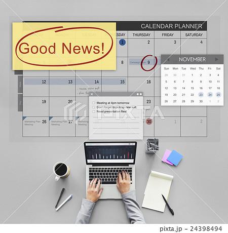 Good News Information Announcement Schedule Conceptの写真素材 [24398494] - PIXTA