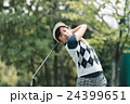 Japanese woman golfer , housewife 24399651