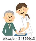 看護師と高齢者 採血 24399913